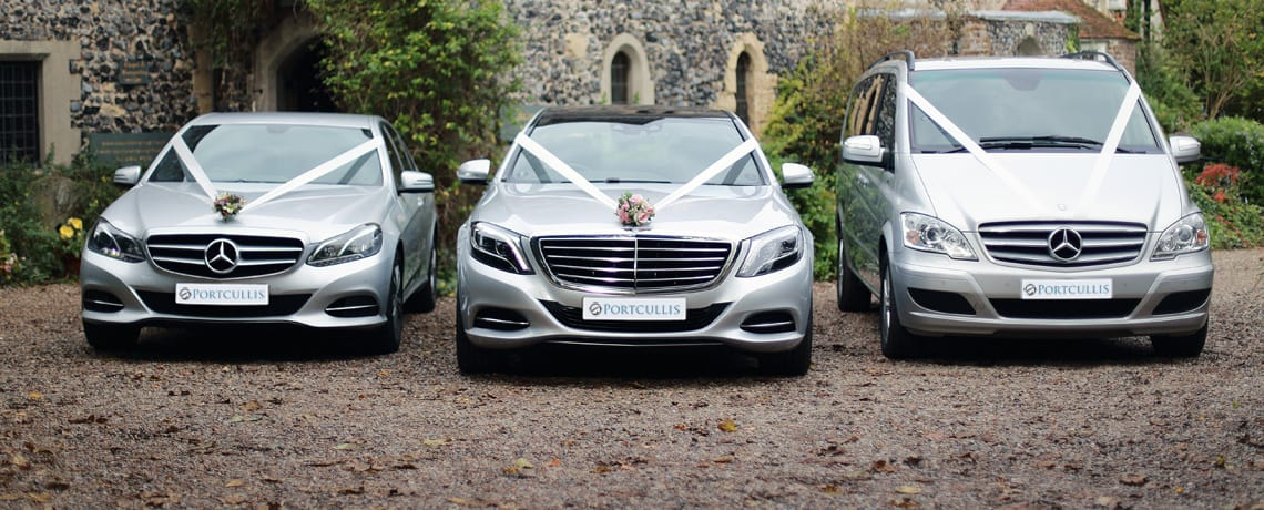 Mercedes E-class & S-class chauffeured wedding cars