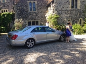 Mercedes S-Class at Salmestone Grange.