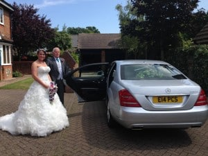 Portcullis Mercedes S-Class wedding car hire