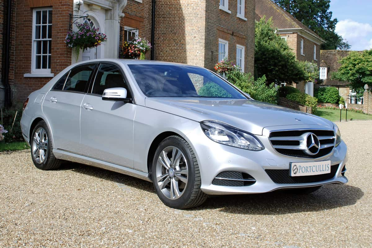 Portcullis Executive Travel | Mercedes Benz E-Class Chauffeured Car Exterior
