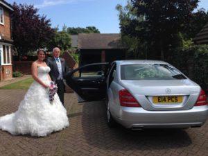 Portcullis Mercedes S-Class wedding car hire